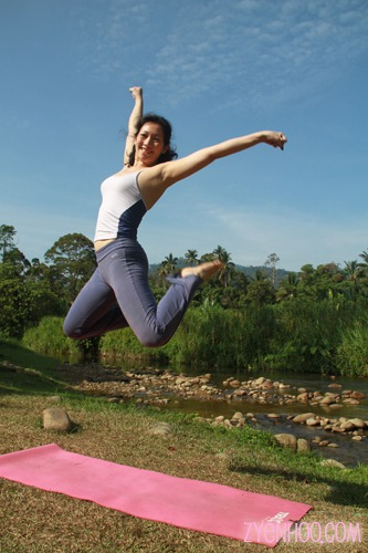 Me jumping by the river