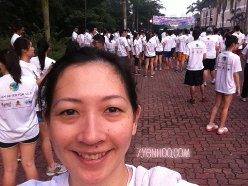 My customary selfie at the start line