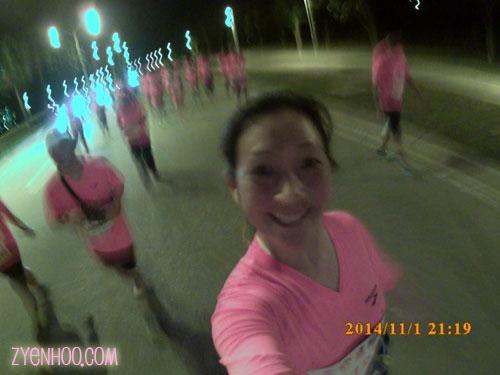 Selfie during the run!