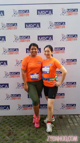 "Farah and I taking a ""before"" shot at the photobooth area before the run"