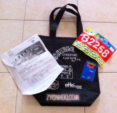The race pack for Possible Run 2015
