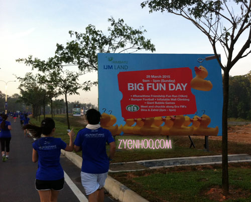Yup, that's the event we're in. (Saw the billboard while running the route)