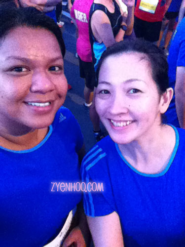 Farah and I at the Start