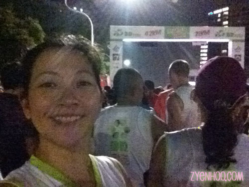 My selfie at the Start line!