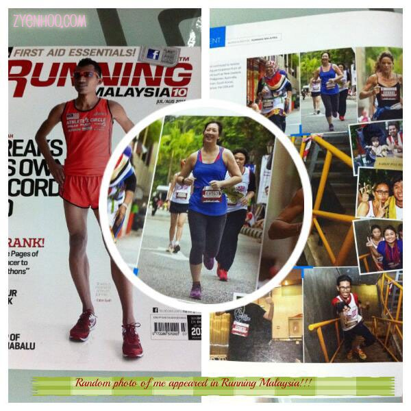 A photo of me has been selected for inclusion in Running Malaysia!!!