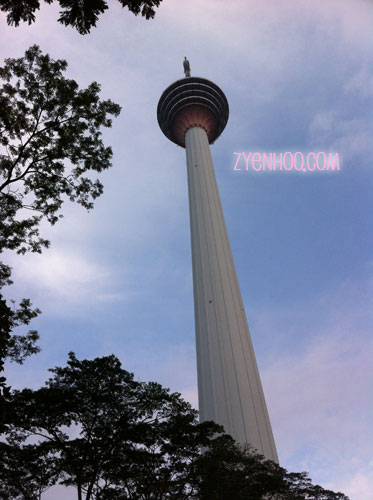 Managed a shot of the KL Tower after our flag-off