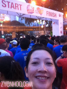My customary selfie at Start line!