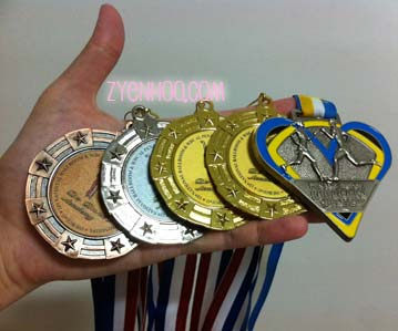 My medals! Yay me! (showing off time)