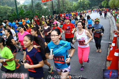 A shot of me in the group of runners being flagged off! I had stood somewhere towards the back of the holding area.