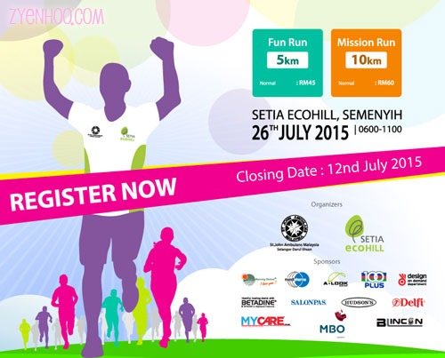 The poster for the run event