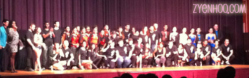 All the Sunday night performers taking their final bow and a group photo onstage