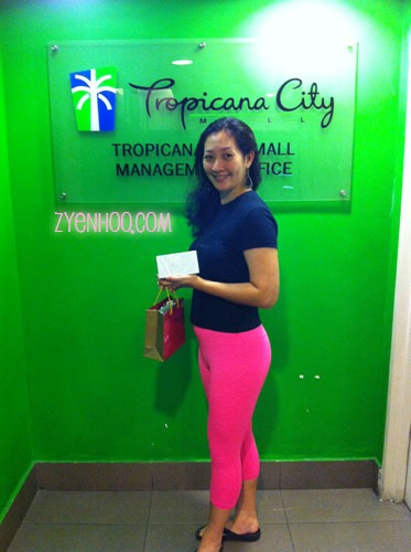 Thank you Tropicana City Mall for the lucky draw prize!