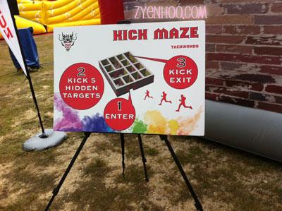 Kick 5 targets inside the maze