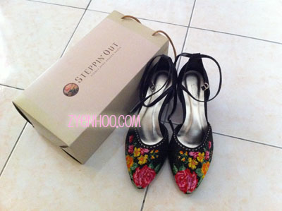 My lovely pair of black nyonya beaded shoes