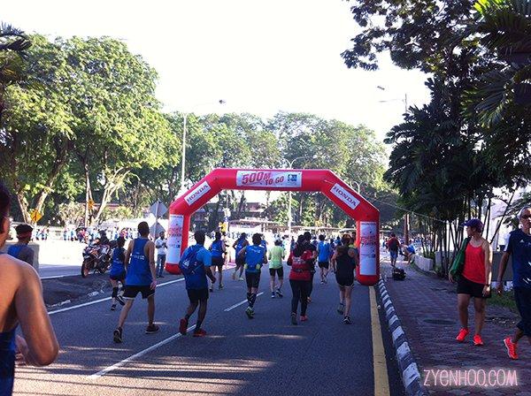 500m to go! It felt like the longest 500m ever!!!