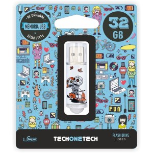 PEN DRIVE FIG. 32GB CALAVERA MOTO TEC4002-32