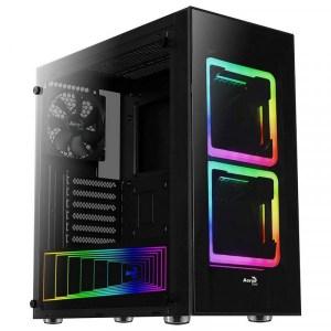 CAJA ATX AEROCOOL TOR USB 3.0 NEGRA 2 VENT RGB