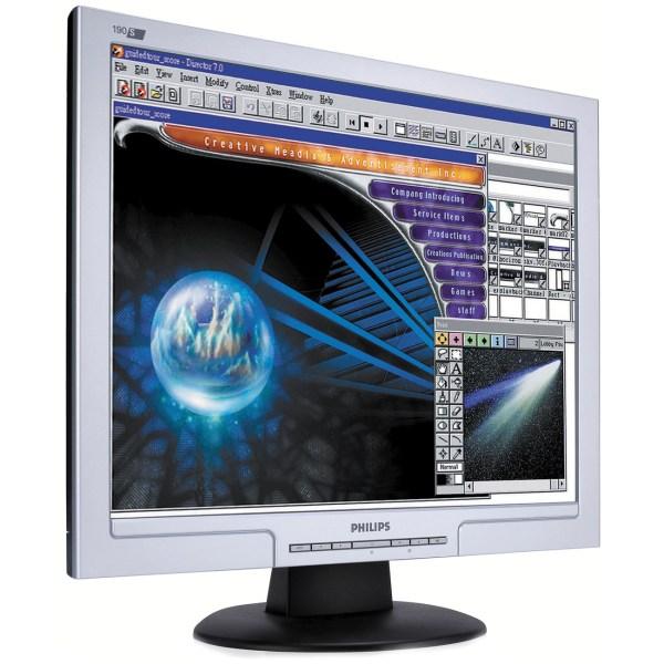 """Monitor Philips 190S7 - 19"""" - VGA/DVI - Negro/Plata"""