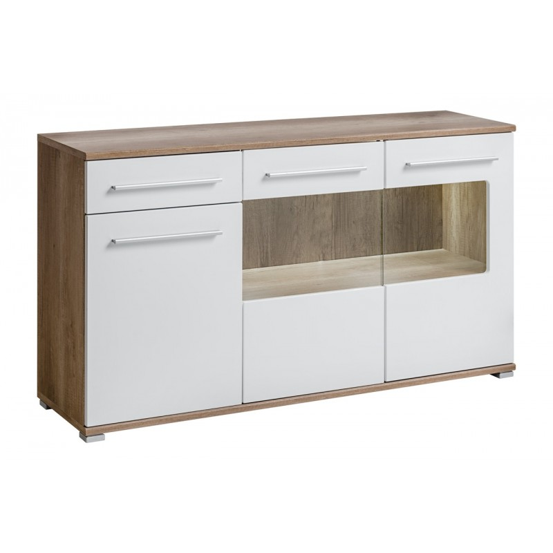 buffet scandinave commode buffet blanc et chene promotion chez zymahome fr