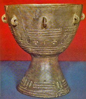 Pucharowy bęben neolityczny z terenu Niemiec