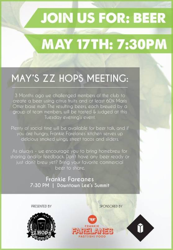 ZZ HOPS May Meeting