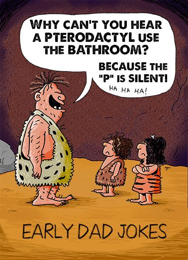 Image of: Cartoon Dad Jokes Bday Ecard Cover Cardfool Funny Birthday Ecard