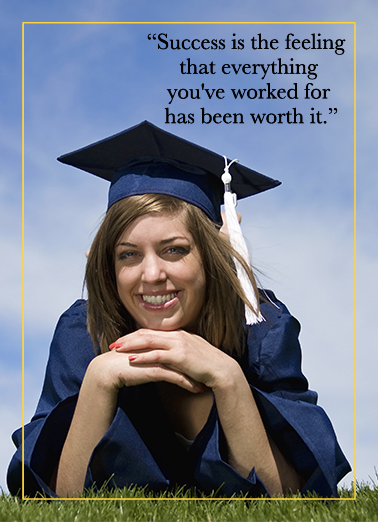 Funny Graduation Card Success Photo Upload From