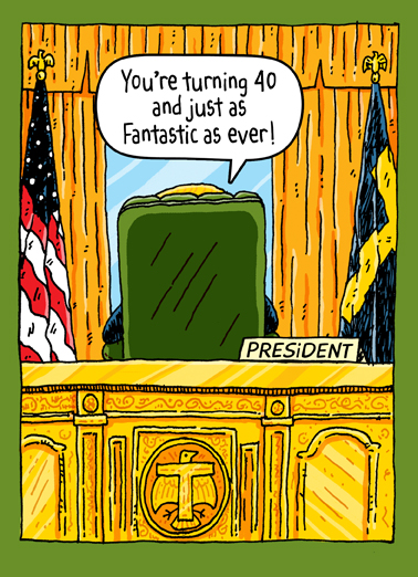 Funny Birthday Card Quot Trump Oval Office 40th Quot From
