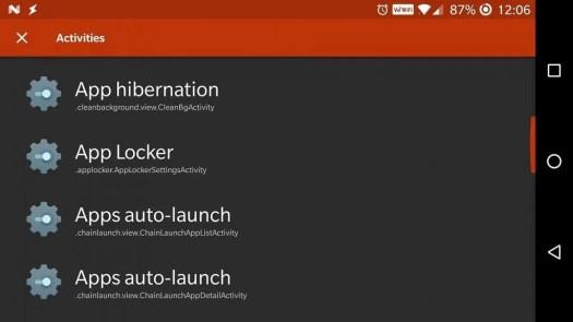 OxygenOS App Lock Settings Activity