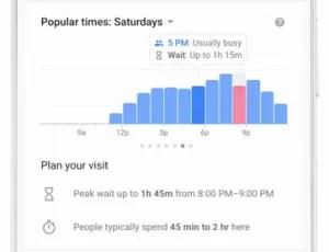 Google restaurant wait times