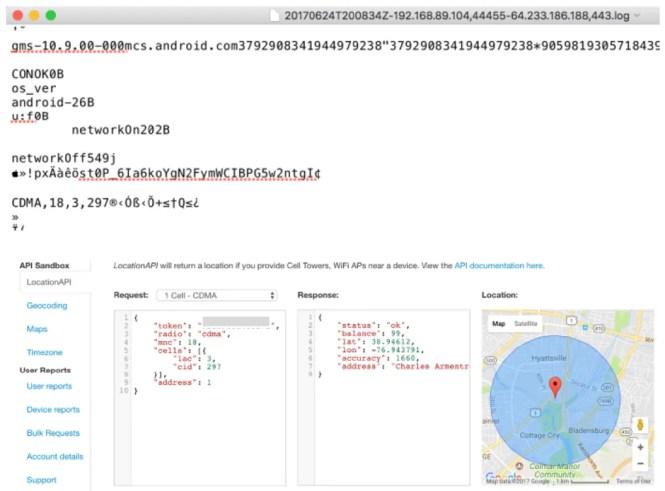 google quartz firebase cloud messaging FCM location data privacy concern