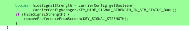 Android P Hide Signal Strength