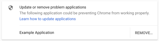 Google Chrome Windows Third Party Software Code Injection Warning