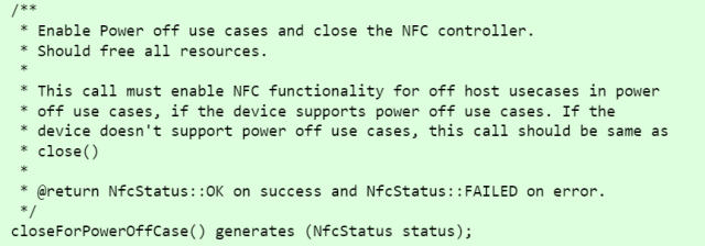 NFC Power Off