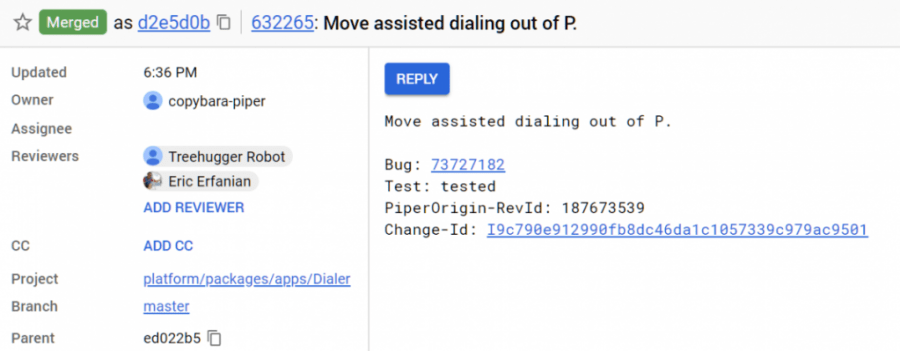 Android P Assisted Dialing