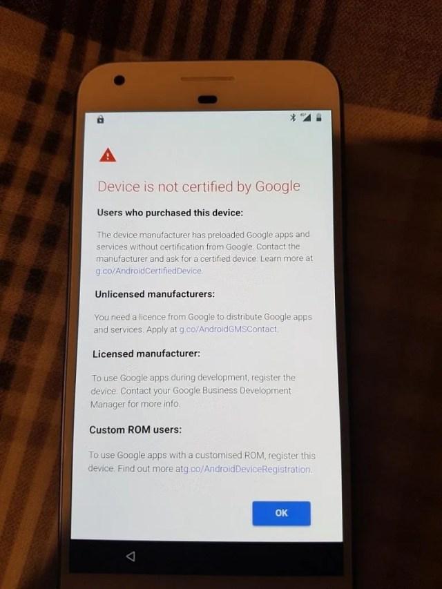 Google Play Uncertified