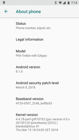 Xiaomi Mi 6 Unofficial Project Treble Support