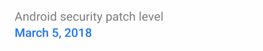 Android P March Security Patch
