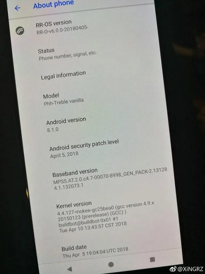 OnePlus 5 OnePlus 5T Project Treble