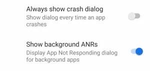 Android P Crash Dialogue