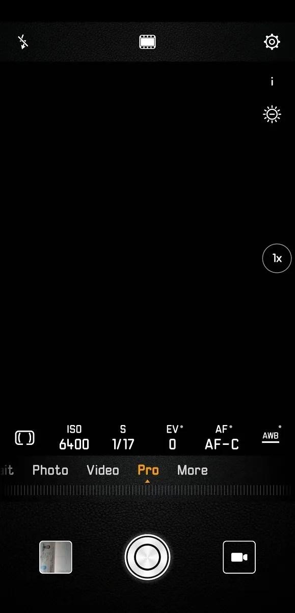 Huawei P20 Pro Camera App Pro Mode