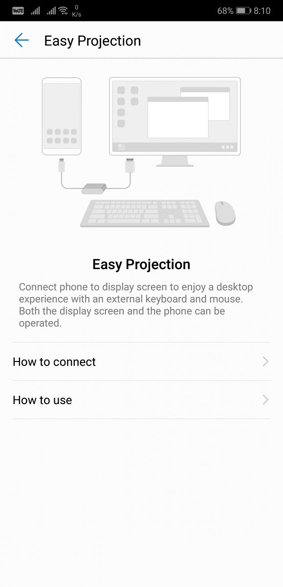 Huawei P20 Pro Easy Projection