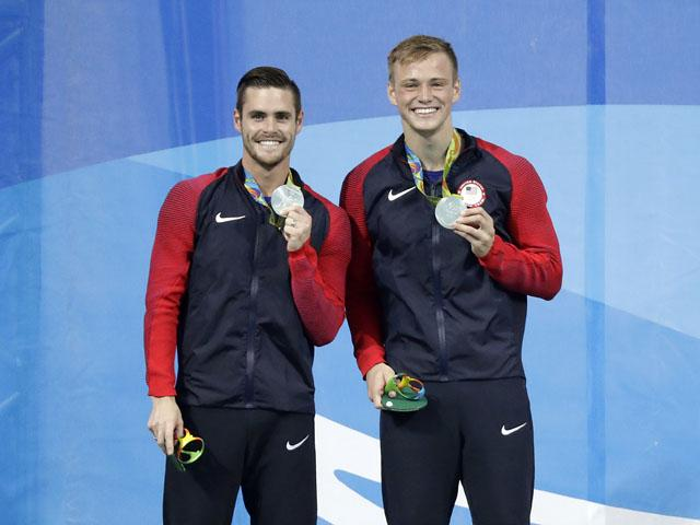Olympians David Boudia, 27, and Steel Johnson, 20
