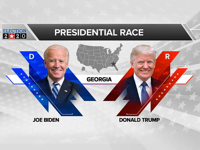 Trump and Biden in Georgia