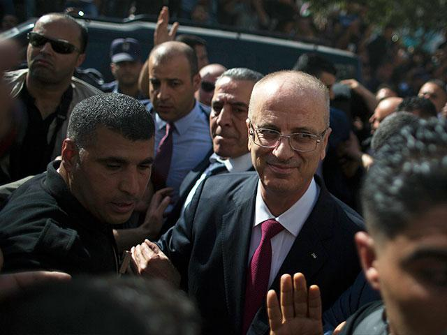 Palestinian Authority Prime Minister Rami Hamdallah in Gaza City Monday, Photo, AP