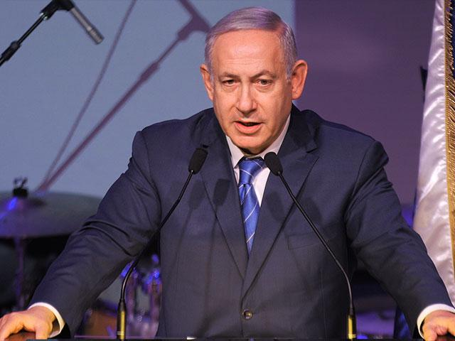 Israeli Prime Minister Benjamin Netanyahu speaks at the annual Government Press Office (GPO) New Years Toast. Photo: CBN News, Jonathan Goff