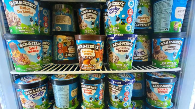 Ben and Jerry's Ice Cream in Israel Photo Credit: CBN News