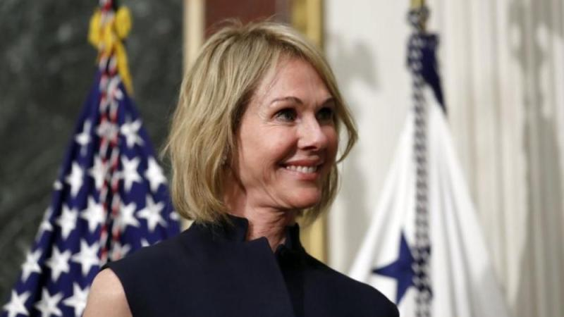 Kelly Knight Craft stands during her swearing in ceremony