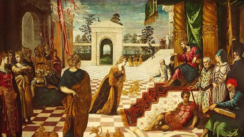 Museum of the Bible Facebook (Tintoretto's 'The Visit of the Queen of Sheba to Solomon')