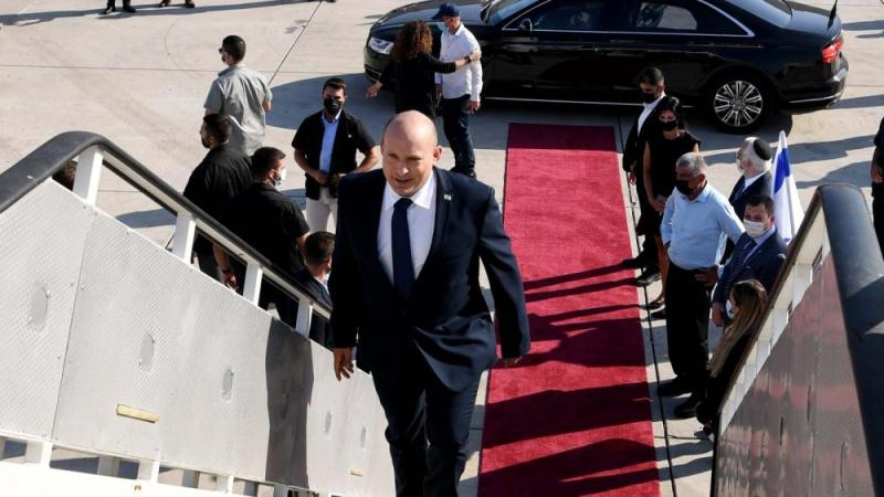 Prime Minister Naftali Bennett leaves for Washington DC. Aug. 24, 2021. Attached photo credit: Avi Ohayon (GPO)